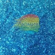 Голубой голографик металл. 0.1 мм. (пыль) от 3 грамм