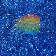 Синий насыщенный металл. серия цветные 0.1 мм. (пыль) от 3 грамм