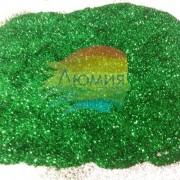 Зелёный металл. серия цветные 0.1 мм. (пыль) от 3 грамм)