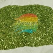 Зелёный стальной металл. серия цветные 0.1 мм. (пыль) от 3 грамм