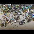 Битое стекло голографик розница опт 500 грамм (цвета в ассортименте)