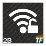 """Трафарет 2В """"Wi-Fi - Без пароля"""""""