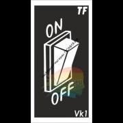 Трафарет ВК1 «ВЫКЛЮЧАТЕЛЬ 3D»