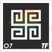 """Трафарет О7 - """"ДУХОВНЫЙ СИМВОЛ"""""""