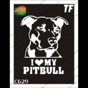 "Трафарет СБ29 ""I love my pitbull"""