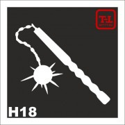 Трафарет Оружие Н18