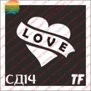 "Трафарет СД14 ""СЕРДЦЕ LOVE"""