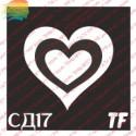 "Трафарет СД17 ""СЕРДЦЕ в СЕРДЦЕ"""