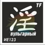 """Трафарет ИЕ123 """"ВУЛЬГАРНЫЙ"""""""