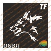 """Трафарет 06ВЛ """"Волк"""""""