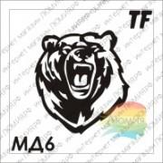 """Трафарет МД6 """"МЕДВЕДЬ"""""""