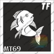 """Трафарет МТ69  """"РЫБА"""""""