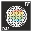 "Трафарет О32 - ""ЦВЕТОК ЖИЗНИ"""