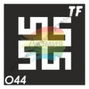 "Трафарет О44 - ""БОГОВНИК"""