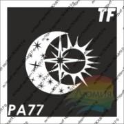 "Трафарет РА77 ""Полумесяц, звезда и солнце"""