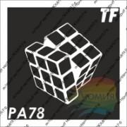 """Трафарет РА78 """"Кубик-рубик"""""""