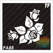 """Трафарет РА88 """"Цветок Розы"""""""