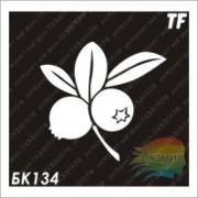"""Трафарет БК134 """"Две ягоды на ветке"""""""