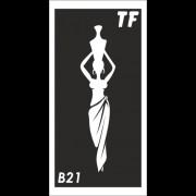 Трафарет В21