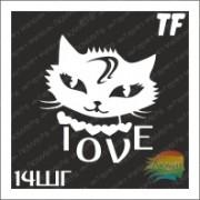 """Трафарет 14ШГ """"LOVE"""""""