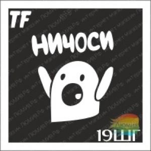 """Трафарет 19ШГ """"НИЧОСИ"""""""