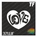"""Трафарет 37ШГ """"LOVE"""""""