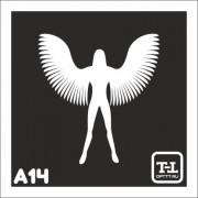 """Трафарет А14 """"Ангелочки"""""""