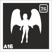 """Трафарет А16 """"Ангелочки"""""""