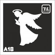 """Трафарет А18 """"Ангелочки"""""""