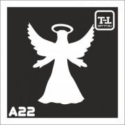 """Трафарет А22 """"Ангелочки"""""""