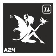 """Трафарет А24 """"Ангелочки"""""""