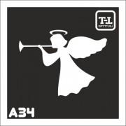 """Трафарет А34 """"Ангелочки"""""""