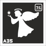 """Трафарет А35 """"Ангелочки"""""""