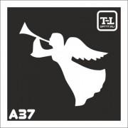 """Трафарет А37 """"Ангелочки"""""""