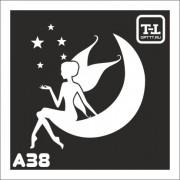 """Трафарет А38 """"Ангелочки"""""""