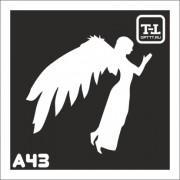 """Трафарет А43 """"Ангелочки"""""""