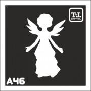 """Трафарет А46 """"Ангелочки"""""""