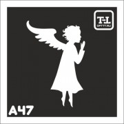 """Трафарет А47 """"Ангелочки"""""""