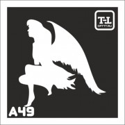 """Трафарет А49 """"Ангелочки"""""""