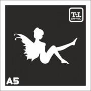"""Трафарет А5 """"Ангелочки"""""""