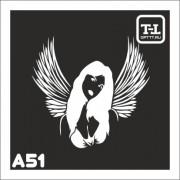 """Трафарет А51 """"Ангелочки"""""""