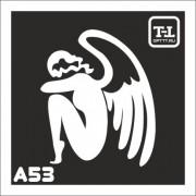 """Трафарет А53 """"Ангелочки"""""""
