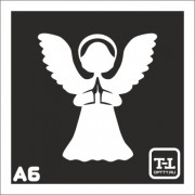 """Трафарет А6 """"Ангелочки"""""""
