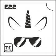 """Трафарет Е22 """"ЕДИНОРОЖКА"""""""