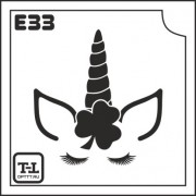 """Трафарет Е33 """"ЕДИНОРОЖКА"""""""