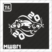 """Трафарет МШ8Г1 """"МЫШКА 2020"""""""